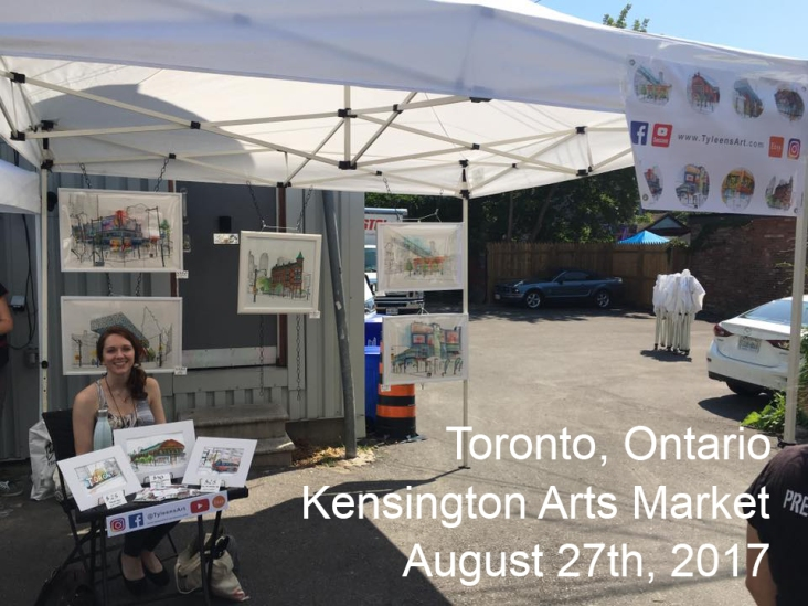 At the Kensigton Arts Market